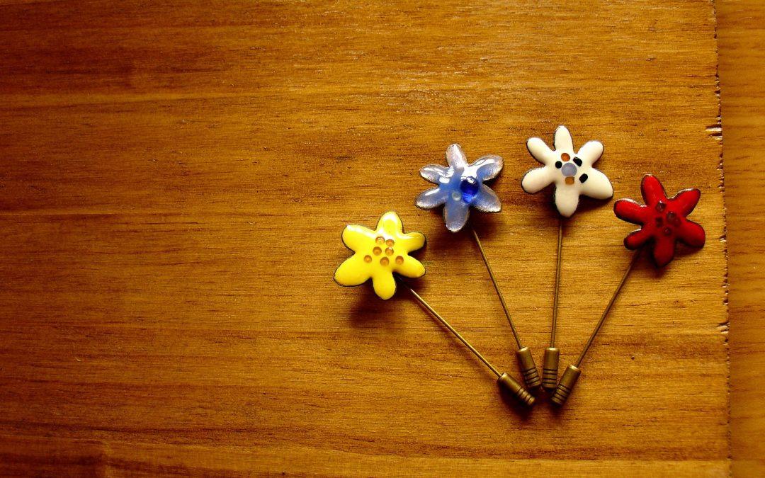 Alfiler de boda con forma de flor Lanca
