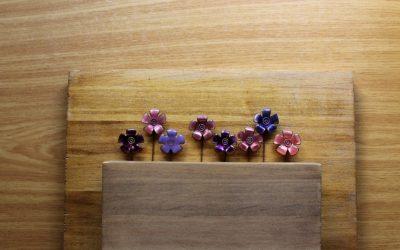 Alfiler de boda flor de esmalte Ticsani