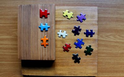 Imanes para nevera de esmalte con puzzle Muoi