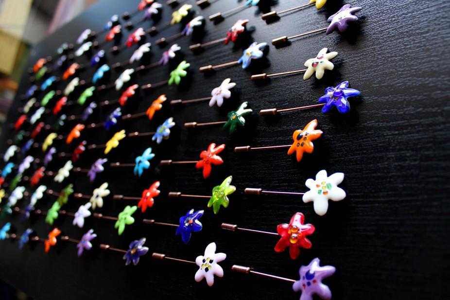 Alfileres de boda en forma de flor