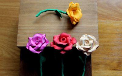 Rosas artificiales para invitadas Labaz