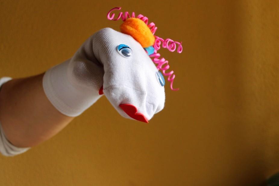 Marioneta de calcetín Ágata