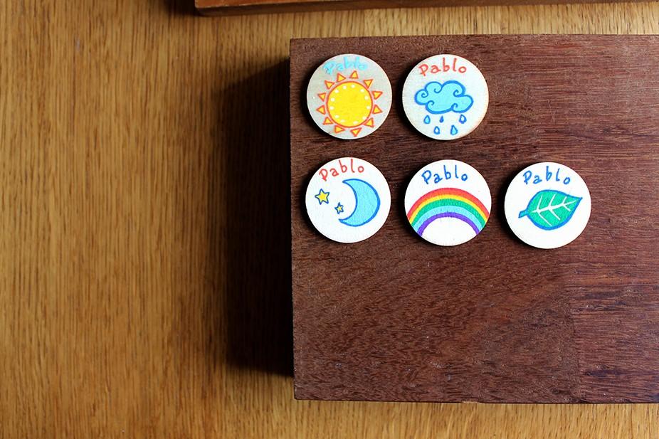 Imanes de madera con dibujo Efrit