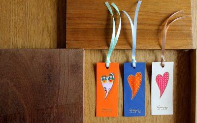 Marcapáginas decorados con tela Suot