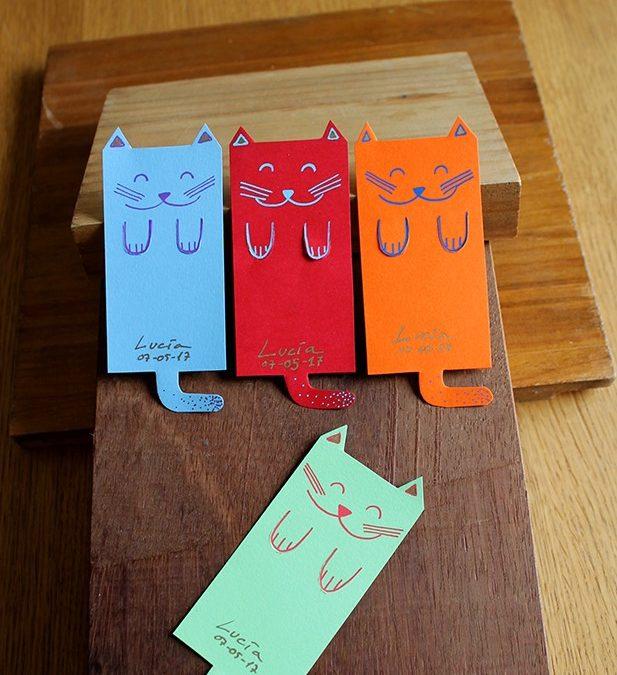 Marcapáginas de gato Miso