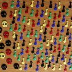 Imanes con forma de corcheas combinados con calaveras
