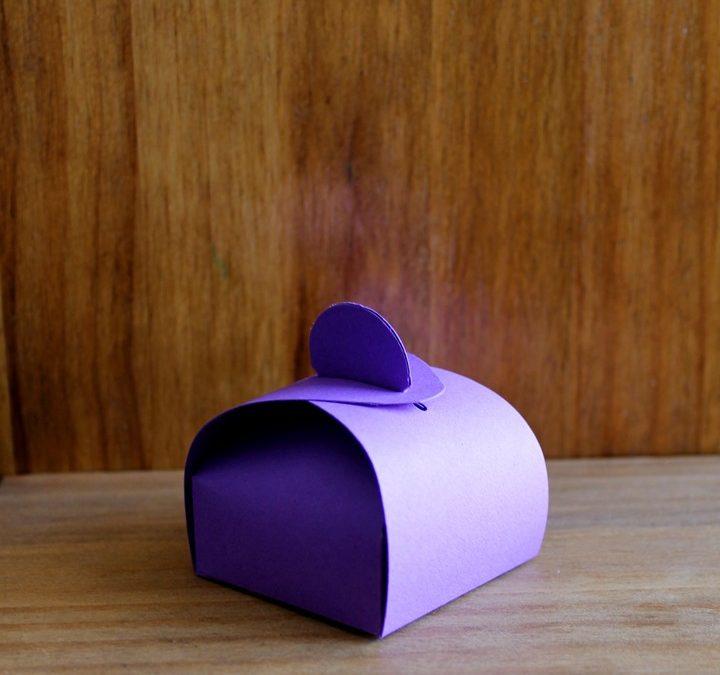 Caja-tartera morada