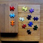 Imanes para nevera con forma de pieza de puzzle Muoi